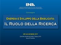 Energia e Sviluppo della Basilicata: il ruolo della ricerca