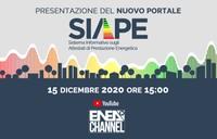 Presentazione del nuovo portale SIAPE Sistema Informativo sugli Attestati di Prestazione Energetica
