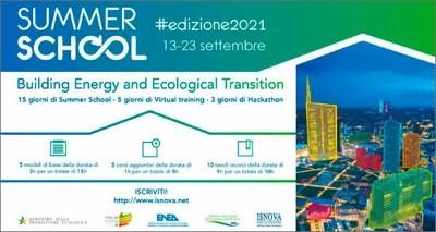 Summer School ENEA : transizione energetica ed ecologica degli edifici