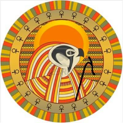 Il Dio Egizio RA, raffigurante il sole