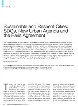 Sustainable Resilient Cities
