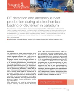 RF detection and anomalous heat