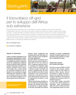 6 Fotovoltaico off grid in Africa