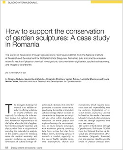 conservation of garden sculptures in Romania