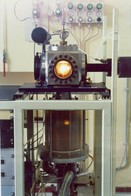 Fig. 2 - Picture of the set-up for laser synthesis of nanoparticles from gas-phase reactants - Source: ENEA