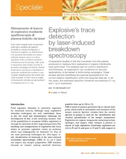 Explosives trace