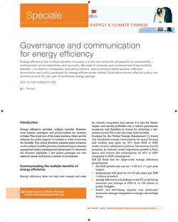 7 Governance and communication