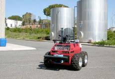 Robot PRASSI in missione di pattugliamento di un impianto